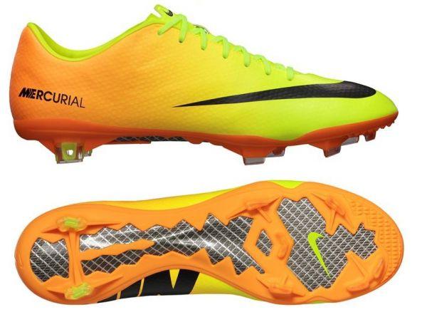 38724c0642 C01 Chuteira Nike Mercurial Vapor IX FG - Amarelo c  laranja - Loja ...